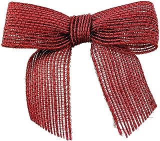 Pre-Tied Red Jute Burlap Bows - 3