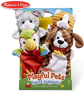 Melissa & Doug Playful Pets Hand Puppets Pretend Play