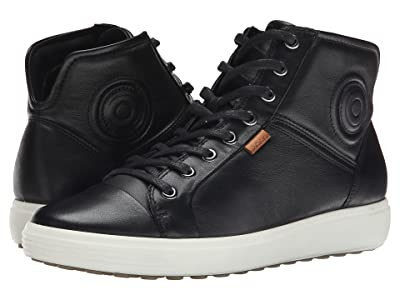 ECCO Soft 7 High Top (Black/Black) Women
