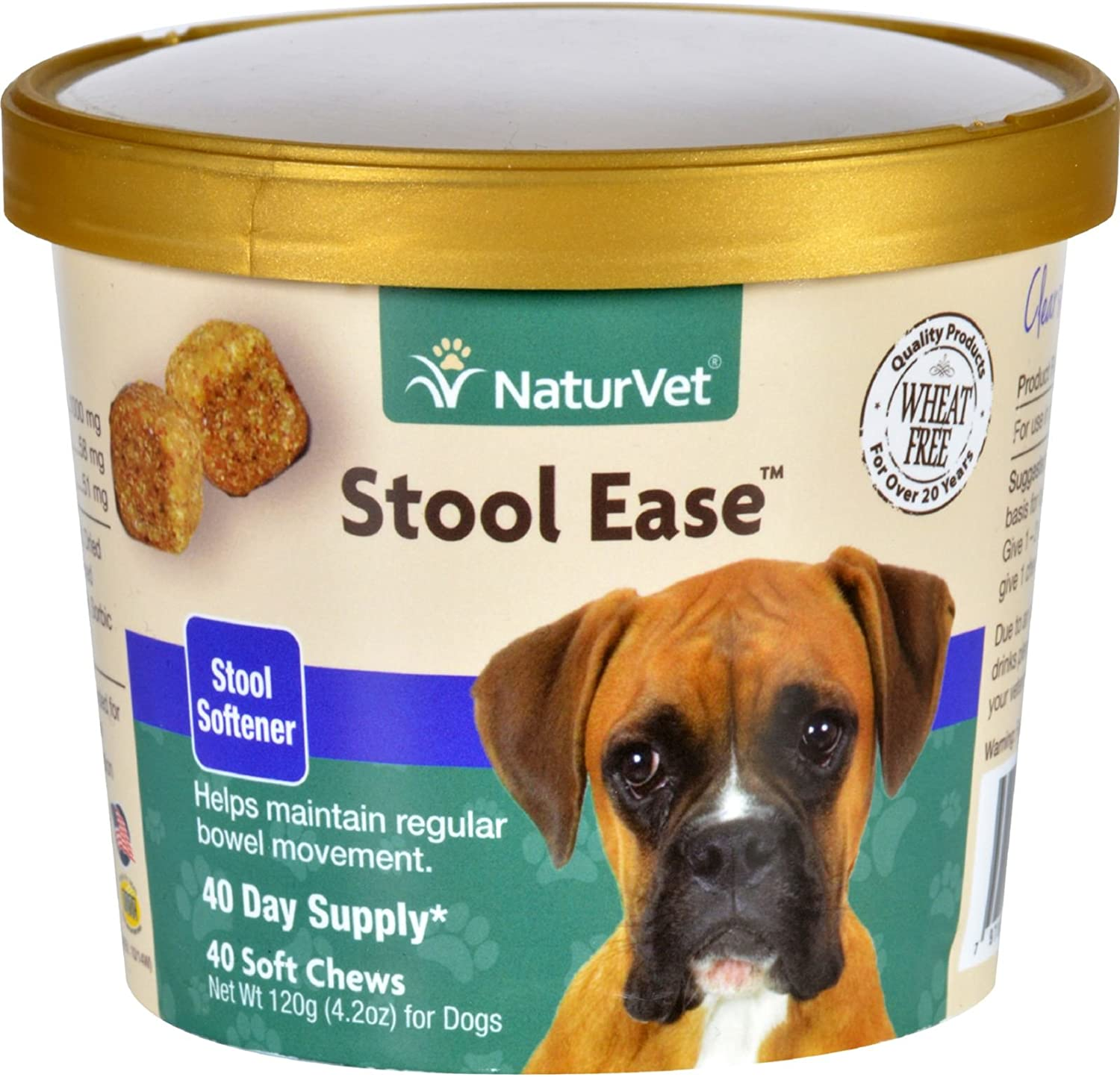 Stool Ease Dogs Cup 40 Soft Chews Wheat Free Helps maintain