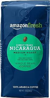 AmazonFresh Direct Trade Nicaragua Whole Bean Coffee, Medium Roast, 12 Ounce