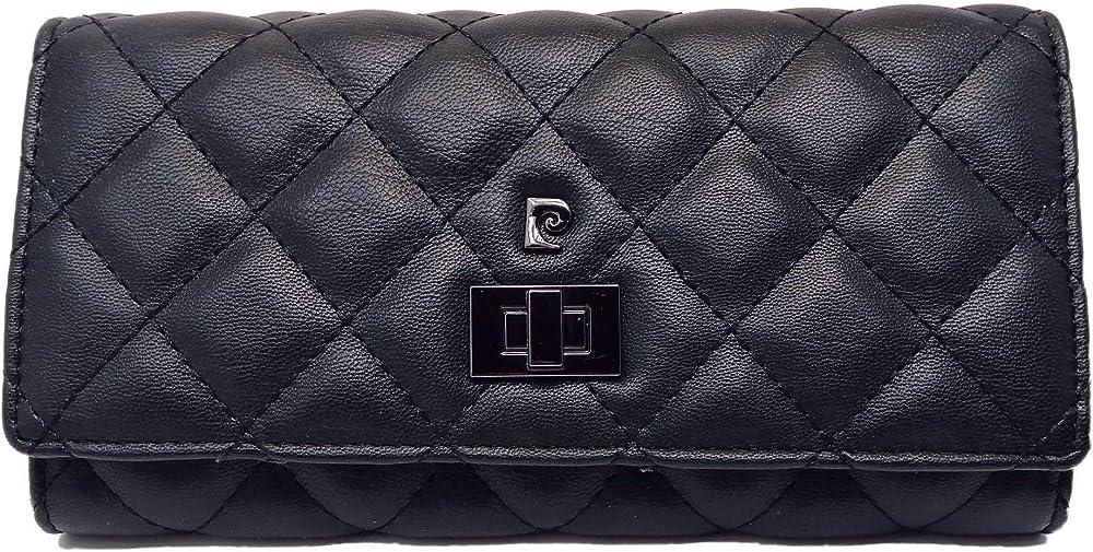 Pierre cardin, portafoglio per donna,portafoglio con portamonete,in ecopelle