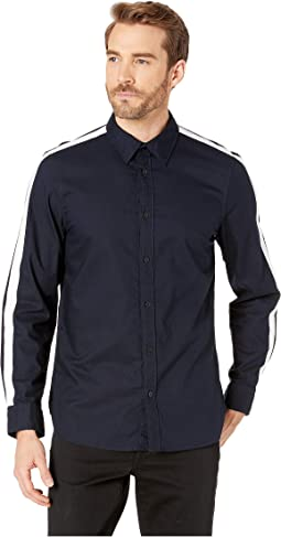 Long Sleeve Racing Stripe Shirt