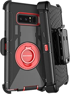 Galaxy Note 8 Case, BENTOBEN Full-Body Rugged Holster Case Kickstand Heavy Duty Dual Layer Combo Hybrid Cover Case with Swivel Belt Clip for Samsung Galaxy Note 8 - Black/Red