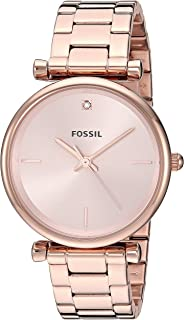 Fossil Womens Quartz Watch, Analog Display and Stainless Steel Strap ES4441
