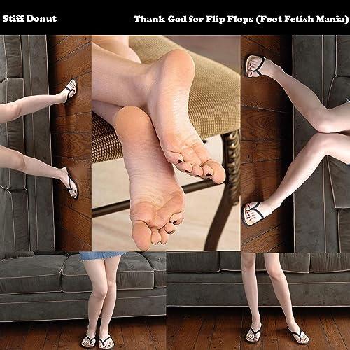 Pantyhose and flip flops fetish