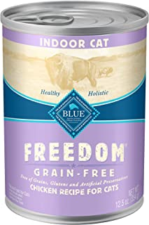 Blue Buffalo Freedom Grain Free Natural Adult Pate Wet Indoor Cat Food