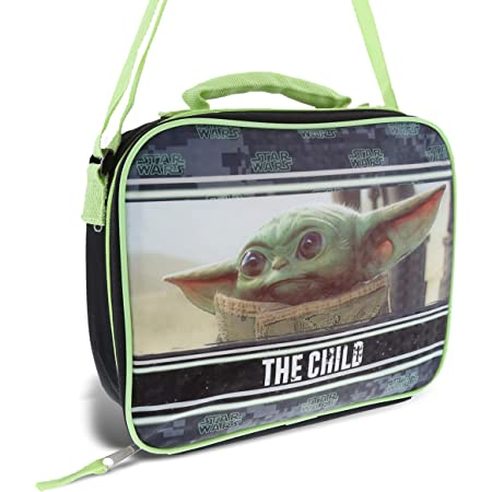 Disney Star Wars The Child Baby Yoda Lunch Bag - Rectangle Baby Yoda Lunch Bag with Adjustable Strap, Baby Yoda Bag For Lunch Box Container For Kids, Students, Star Wars Mandalorian Fans Collectors