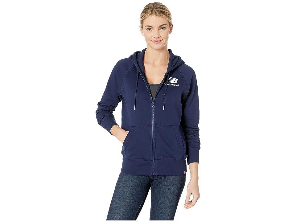 New Balance Essentials Full Zip Hoodie (Pigment) Women