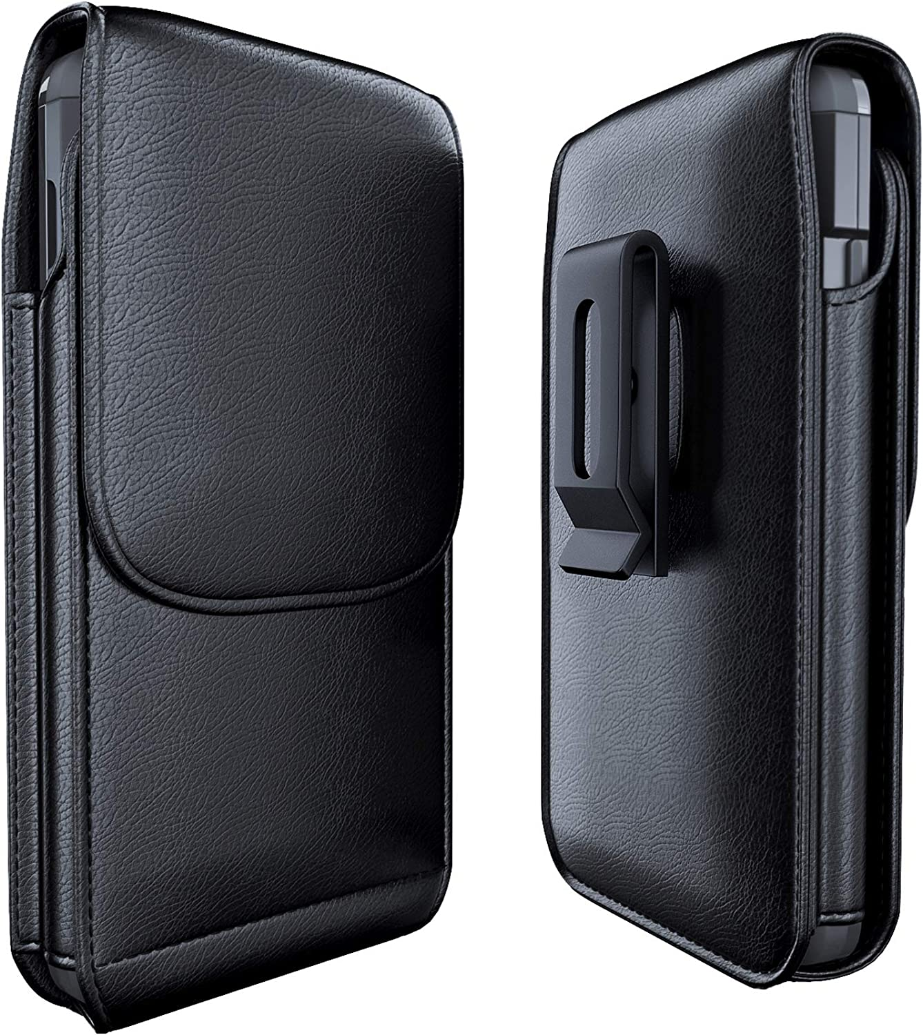 Meilib Phone Holder Case Designed for iPhone 11 Pro (2019) Belt Holster, iPhone X / Xs/ 10 Belt Case with Swivel Belt Clip Cell Phone Holster Belt Pouch Cover Fits Apple iPhone with Cases on - Black