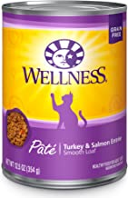 Wellness Complete Health Natural Grain Free Wet Canned Cat Food Pate Recipe Turkey & Salmon Pate