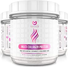 Multi Collagen Peptides Powder – #1 Dissolving Collagen Powder Type I,II,III,V & X with Biotin & Vitamin C – Anti-Aging, Healthy Hair, Skin & Nails - Keto & Paleo Friendly Protein - Unflavored
