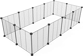 Metal Pet Folding Playpen Dog Kennel Pets Fence Exercise Cage 12 Panels Metal Wire Yard Fence for Kitten Puppy Rabbit Smal...