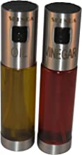 Premium Oil and Vinegar Dispensers - Replaces Salad Bottles, Cruet - Free E-books (5) Clear Glass Bottles Oil And Vinegar Sprayer For Cooking - Not Need Pre-Pump Includes Cleaning brush And Funnel.