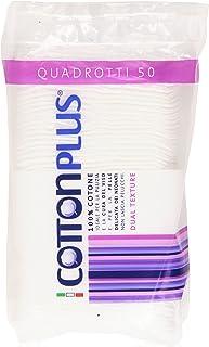 Cotton Plus QUADROTTI 50 pz. - LINEA BEAUTY | QUADROTTI 100% PURO COTONE | Dischetti struccanti per la pulizia del viso so...