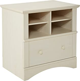 Sauder Harbor View Lateral File, Antiqued White finish