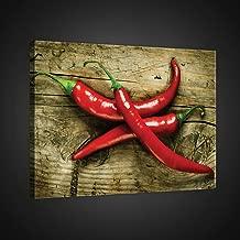Acrylglasbilder Wandbilder aus Plexiglas® 125x50 Chili Löffel Küche