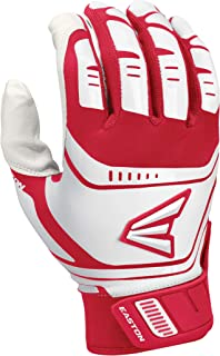 EASTON WALK-OFF POWER LEVERAGE Batting Glove | Pair | Baseball Softball | Adult | Large | Red / White | 2020 | Power Lever...