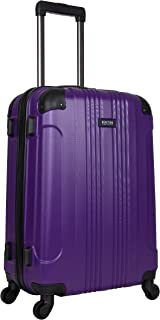 Kenneth Cole Reaction Out of Bounds 24-inch Check-Size Lightweight Durable Hardshell 4-Wheel Spinner Upright Luggage, Purple