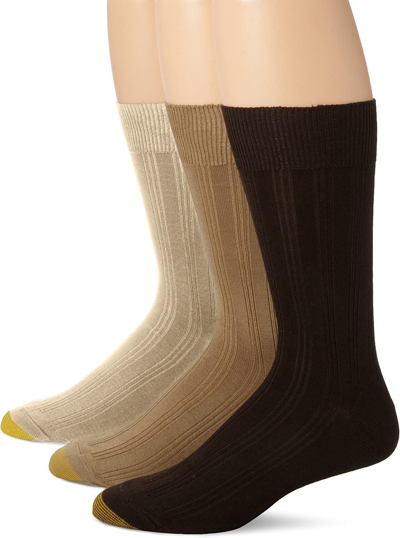 Gold Toe Men's Middleton Rib 3 Pack