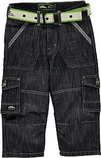 Boys Belted Cargo Denim Shorts Pants Bottoms Junior