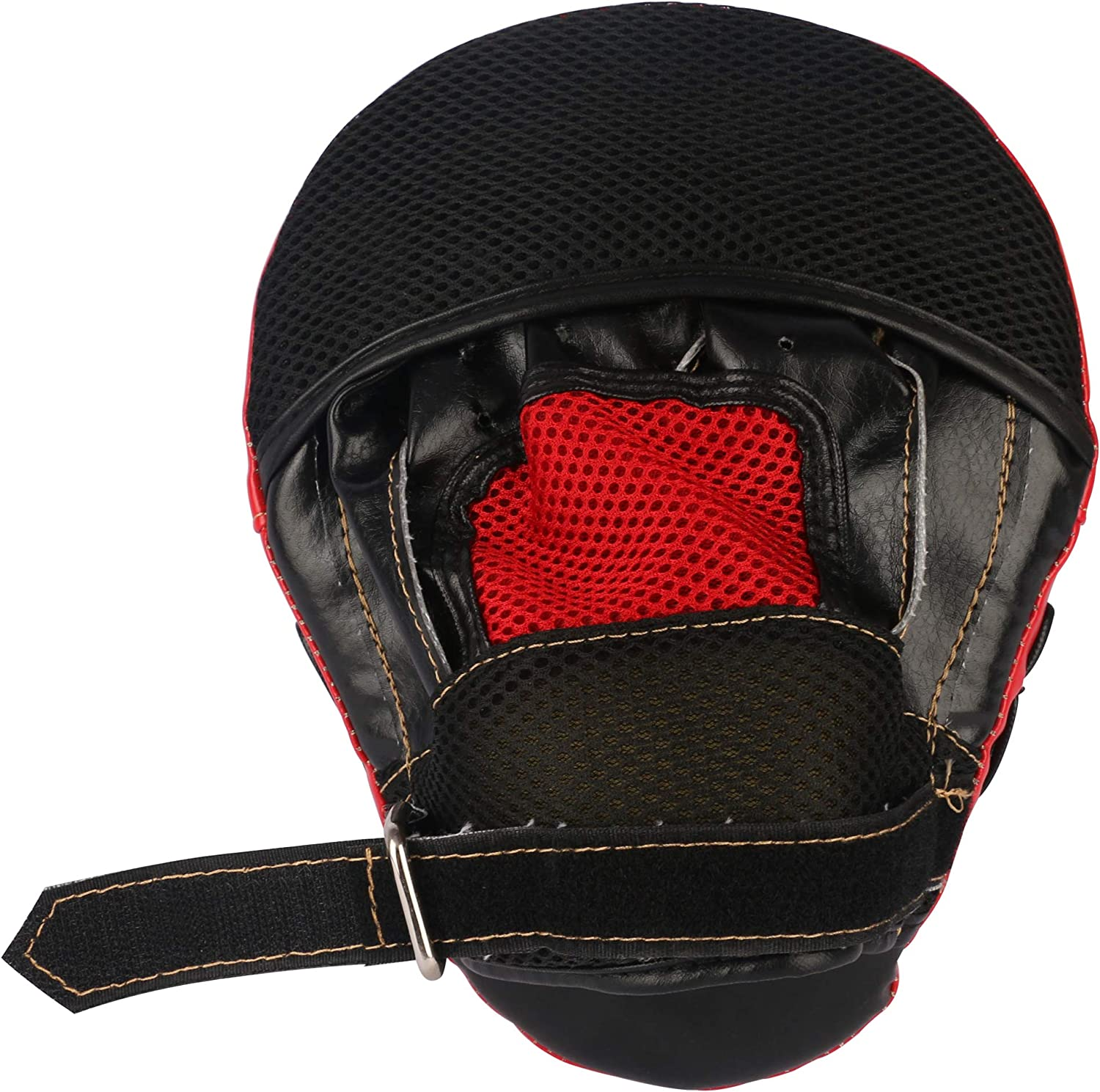 GINGPAI BOXING Curved Punching Mitts 1PC//2PC Leather Training Hand Pads for MMA Karate,Muay Thai Kick,Sparring,Martial Arts