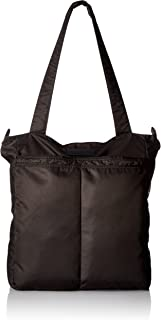 JuJuBe Be Light Everyday Lightweight Zippered Tote Bag, Onyx Collection - Black Out