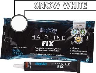 MagicEzy Hairline Fix (Snow White) - Fiberglass Crack Repair - Fills And Colors Fast