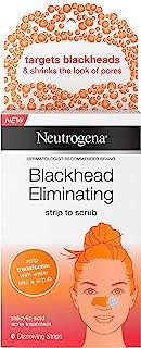 Neutrogena Blackhead Eliminating No-Pull Cleansing Pore Strip to Facial Scrub with Salicylic Acid Acne Treatment Oil-Free...