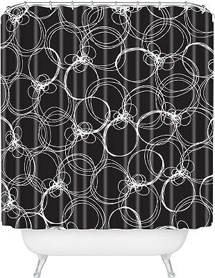 Deny Designs Rachael Taylor Circles 1 Shower Curtain, 69 x 72