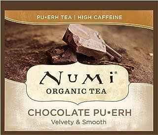 Numi Organic Tea Chocolate Pu-erh, 100 Count Box of Tea Bags, Black Tea