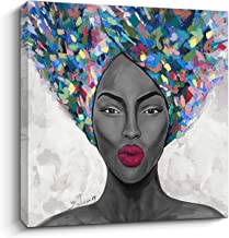 Pigort African American Wall Art Black Art Canvas Paintings for Wall Modern Living Room Bedroom Wall Décor Framed Ready to...