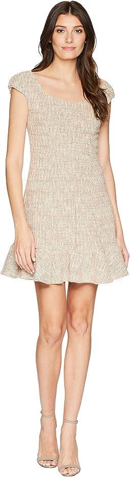 Rebecca Taylor Cap Sleeve Spring Tweed Dress