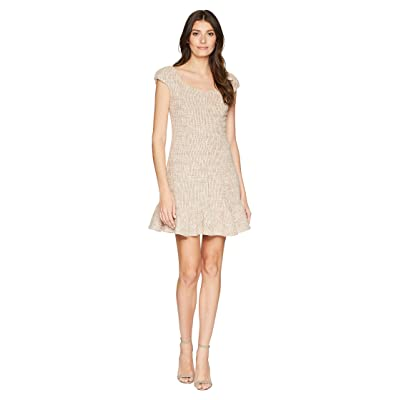 Rebecca Taylor Cap Sleeve Spring Tweed Dress (Rosey Nude Combo) Women