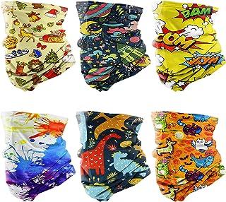 Bigmeda 6 Piezas Braga Cuello Niño Bufanda Cuello Pañuelos Cabeza [32 * 20 cm/UV-Resistentes/Transpirables] Ajustable Elás...