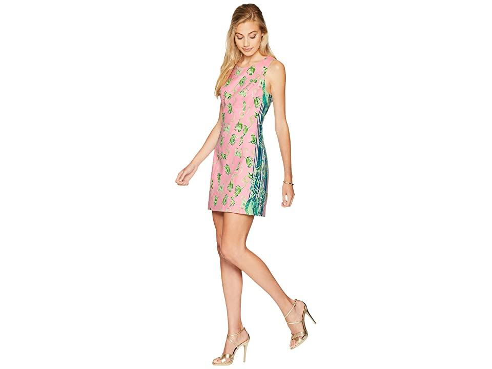 Lilly Pulitzer Mila Stretch Shift Dress (Coral Reef Tint Monkey Business Engineered) Women