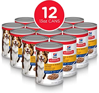 Hill's Science Diet Canned Wet Dog Food, Adult 7+ for Senior Dogs, Pack of 12 Cans