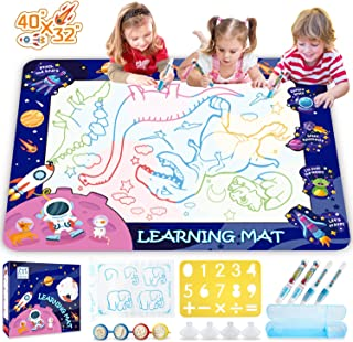 HISTOYE Aqua Magic Water Doodle Mat for Kids Large Size Water Drawing Mat for Toddlers Painting Coloring Mat Pad with Pens...
