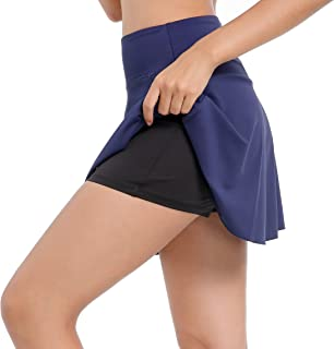 Annjoli Womens Skort Active Athletic Skirt for Running Tennis Golf Workout Exercise Skorts