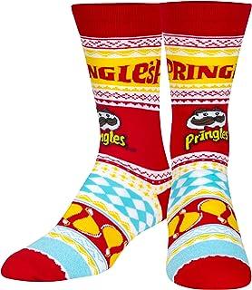 Cool Socks, Mens, Ugly Sweater Sock, Food, Crew Socks, Holiday Novelty Funny