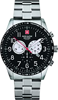 Swiss Alpine Military by Grovana Reloj de Hombre cronógrafo 10ATM con Correa de Acero Inoxidable