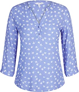 W.Lane Abstract Floral Blouse Ocean 16 - Womens