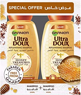 شامبو الترا دو هوني تريجرز بالعسل من غارنييه، 2 × 400 مل - عبوة من قطعة واحدة