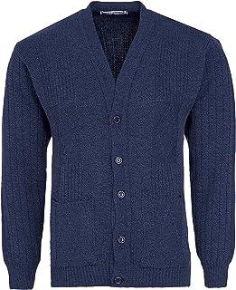 Miss Trendy Mens Classic Buttons Vintage Plain Knitted Grandad Cardigan Jumper UK S- 3XL