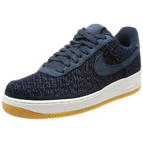 super popular 93220 7478e Nike Mens Air Force 1 07 Indigo Armory NavyAnkle-High Cotton Fashion  Sneaker