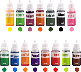 15 Colors Liquid Soap Dye Kit Food Grade Skin Safe (5.3 OZ), Vegan, Gluten-Free - Liquid Bath Bombs Colorant Set Best Soap Making Supplies (Red Black Pink Brown Lavender Lemon Yellow etc)