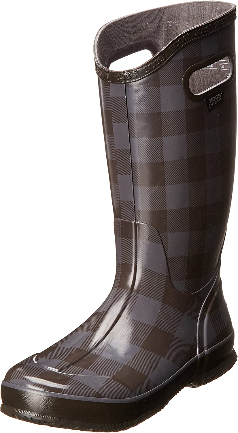 Bogs Women's Buffalo Plaid Rainboot Waterproof Boot