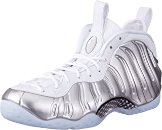Nike Women's Air Foamposite One White/Chrome-BlueTint AA3963-100 (Size: 8)