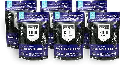 Kuju Coffee Premium Single-Serve Pour Over Coffee | Ethically Sourced, Specialty Grade, Eco-Friendly | Bold Awakening, Dark Roast, 5-packs (6 Count)