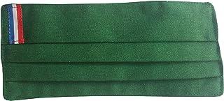 Pack 2 color verde bandera francesa doble tela